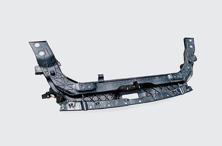 Magna and BASF partnered with Ford to create this structural part that is 24 percent lighter than the prior plastic-metal hybrid.
