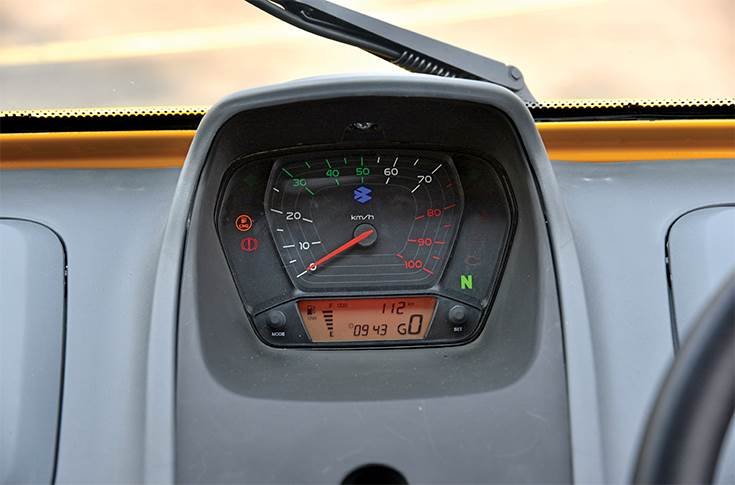 Digital Instrument Gauge and console in Bajaj Qute