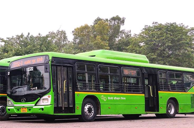 Tata Motors CNG buses for Delhi Transport
