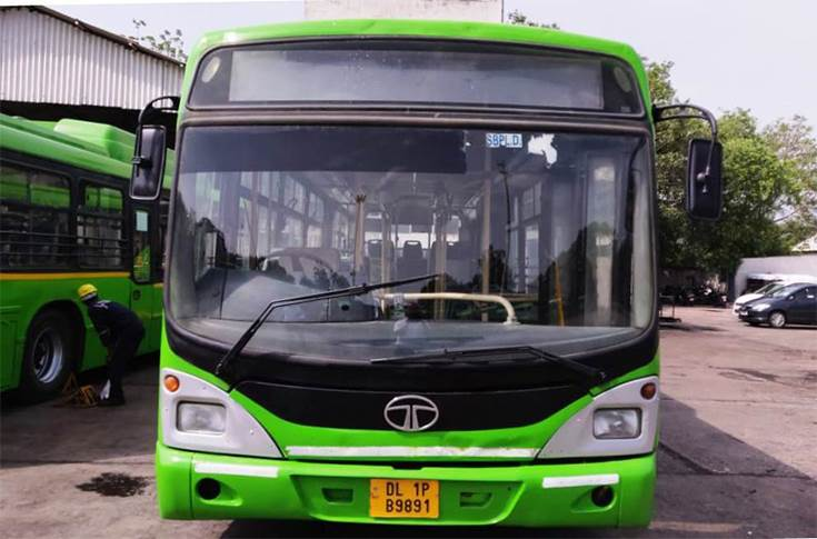Tata CNG bus for Delhi Transport