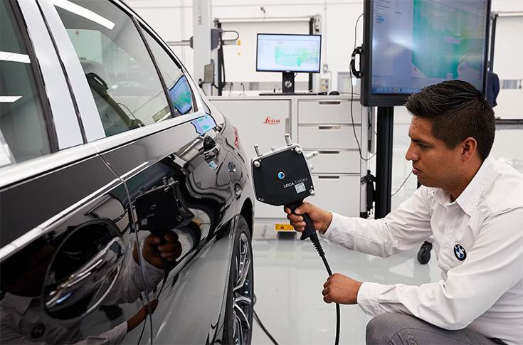 Laser-based quality check at the BMW Group plant SLP