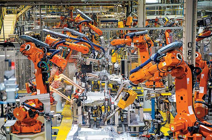 Jaguar Land Rover manufacturing plant at Halewood, UK