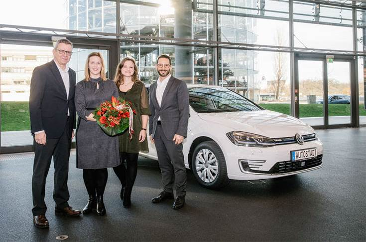 Volkswagen 250,000 electric car handover