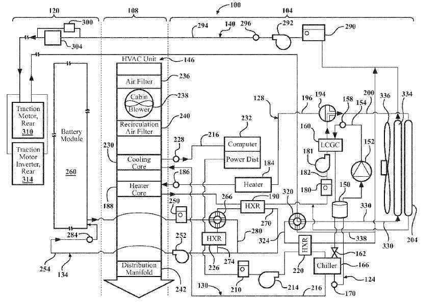 Schematic diagram of Apple's thermal management system