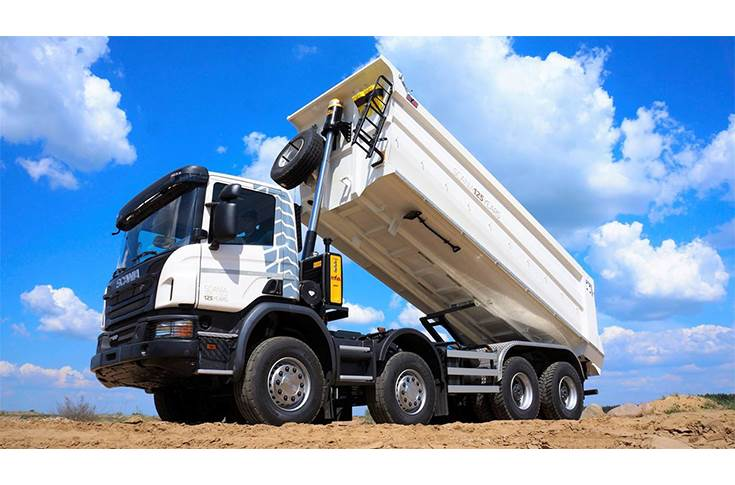 Hyva front-end tipper