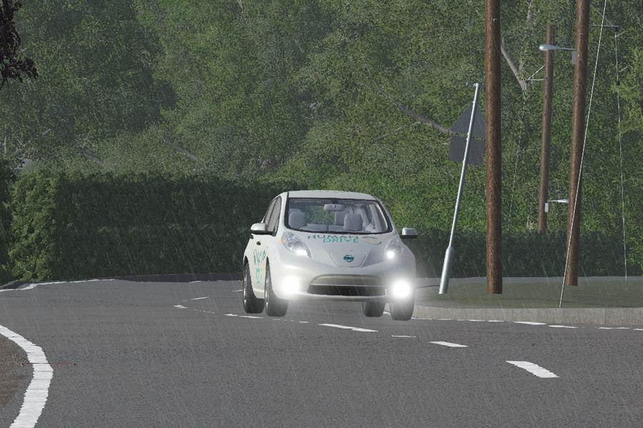 Nissan Leaf car for Human Drive