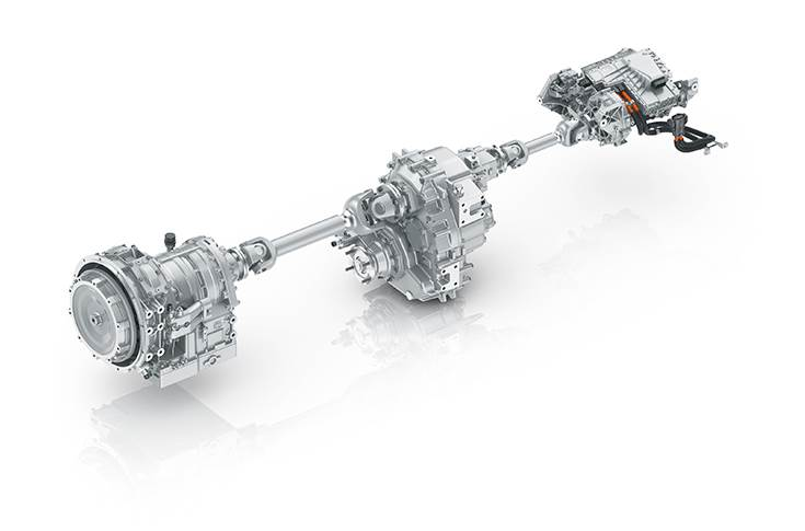 ZF electric hybrid driveline for Renault truck at Dakar Rally